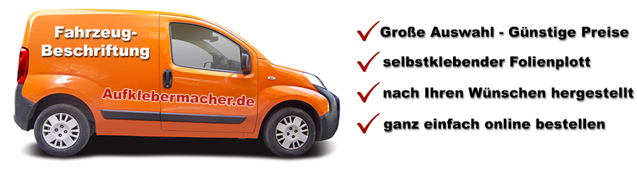 Fahrzeugbeschriftung selber gestalten