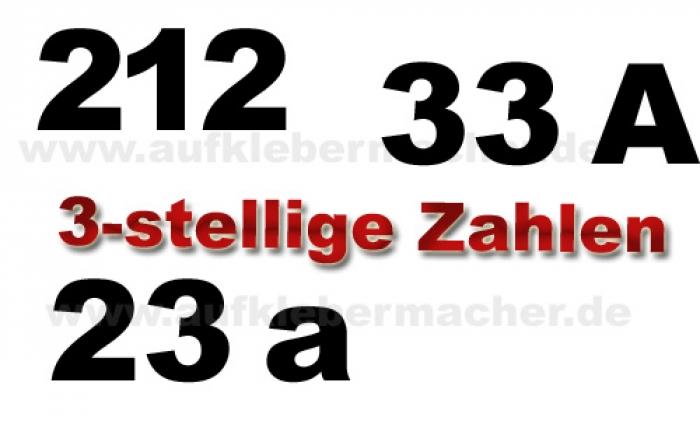 Aufklebermachershop Hausnummern Und Zahlen Aufkleber