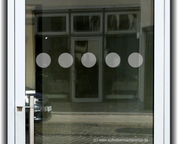 aufklebermachershop glast r aufkleber punkte und gro en scheiben. Black Bedroom Furniture Sets. Home Design Ideas