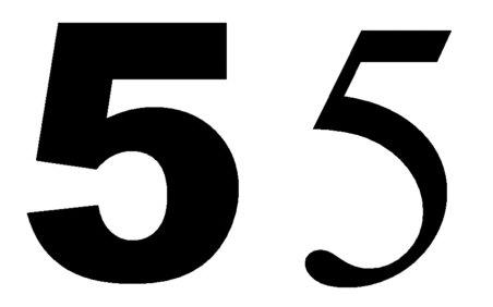 Aufklebermachershop Hausnummer Ziffer 5